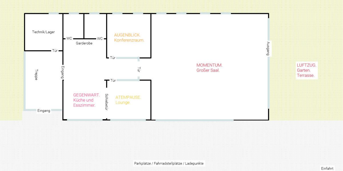 Ein Raumplan für das Seminarzentrum ZEITRAUM