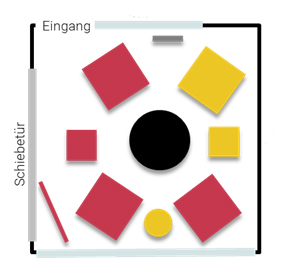 Stellplan Lounge - Kleingruppe oder Workshop mit bis zu sieben Personen im Tagungszentrum ZEITRAUM